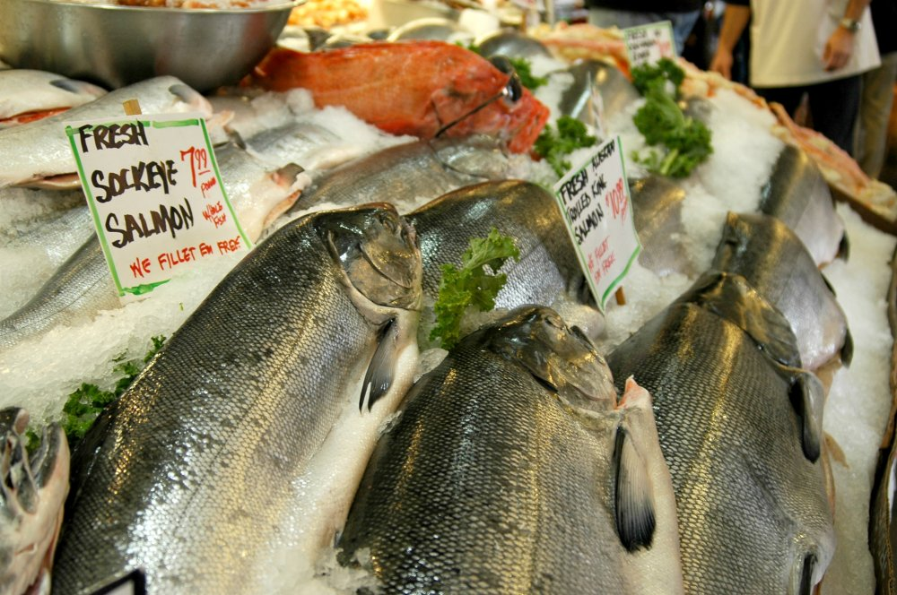 Salmon at Pike Place Market