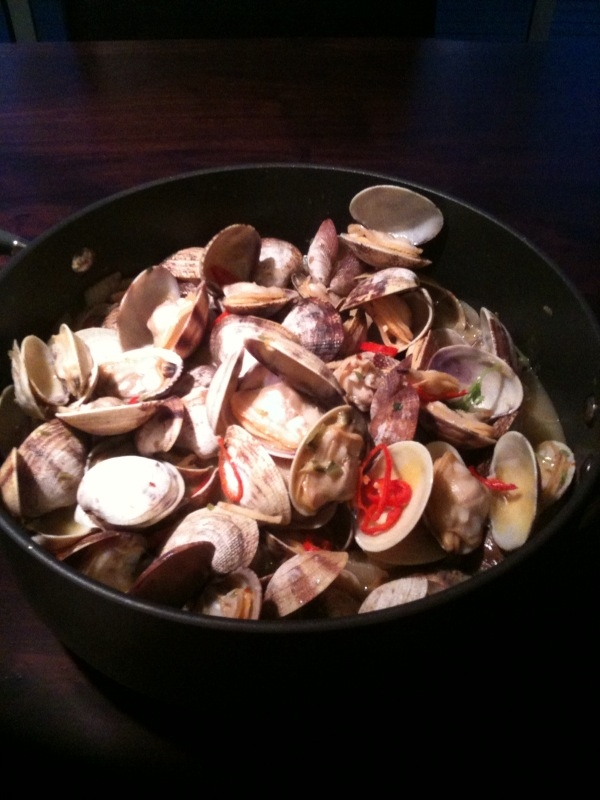 Clams Served at Agate Beach House.