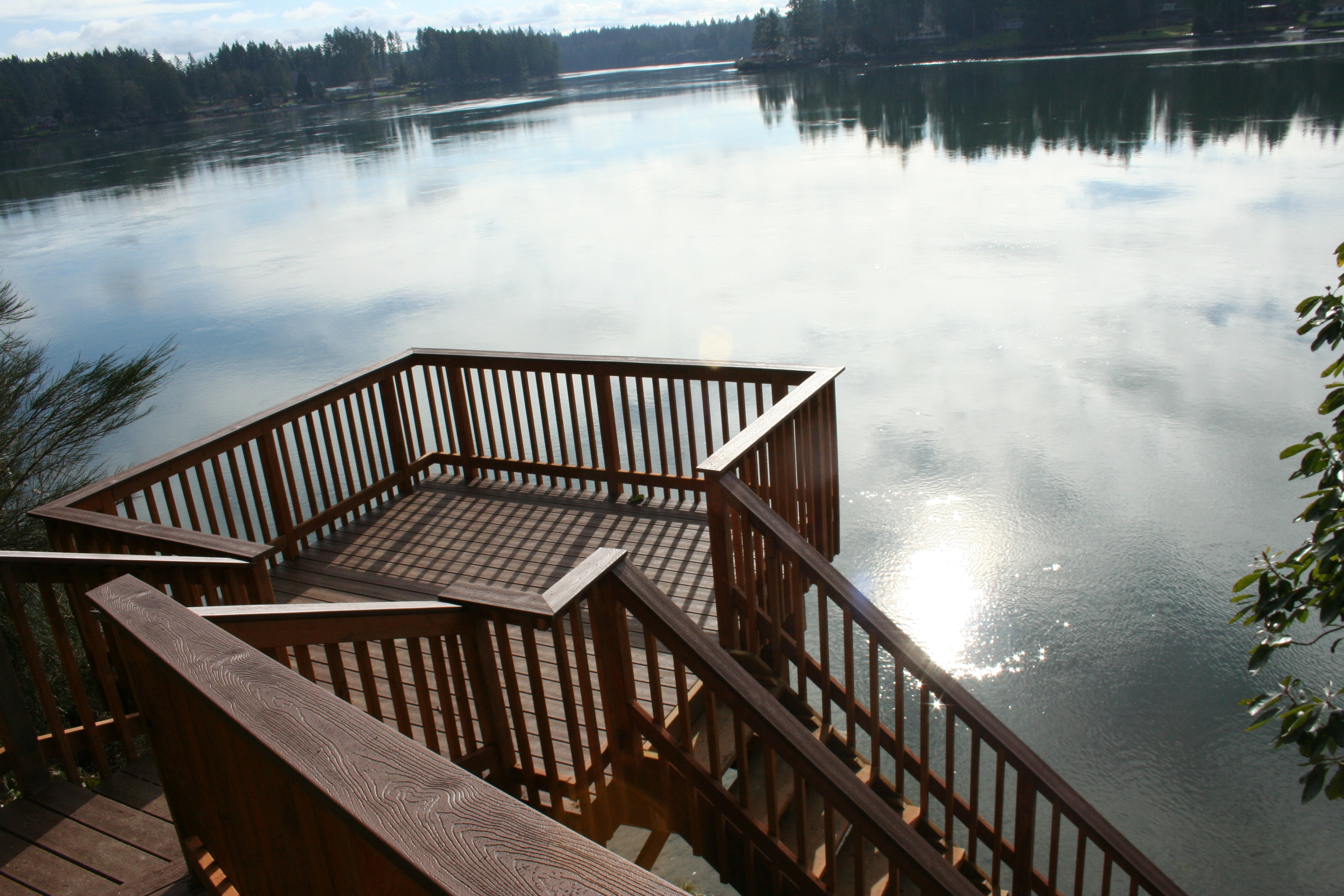 Lower deck overlooking Hammersley Inlet.