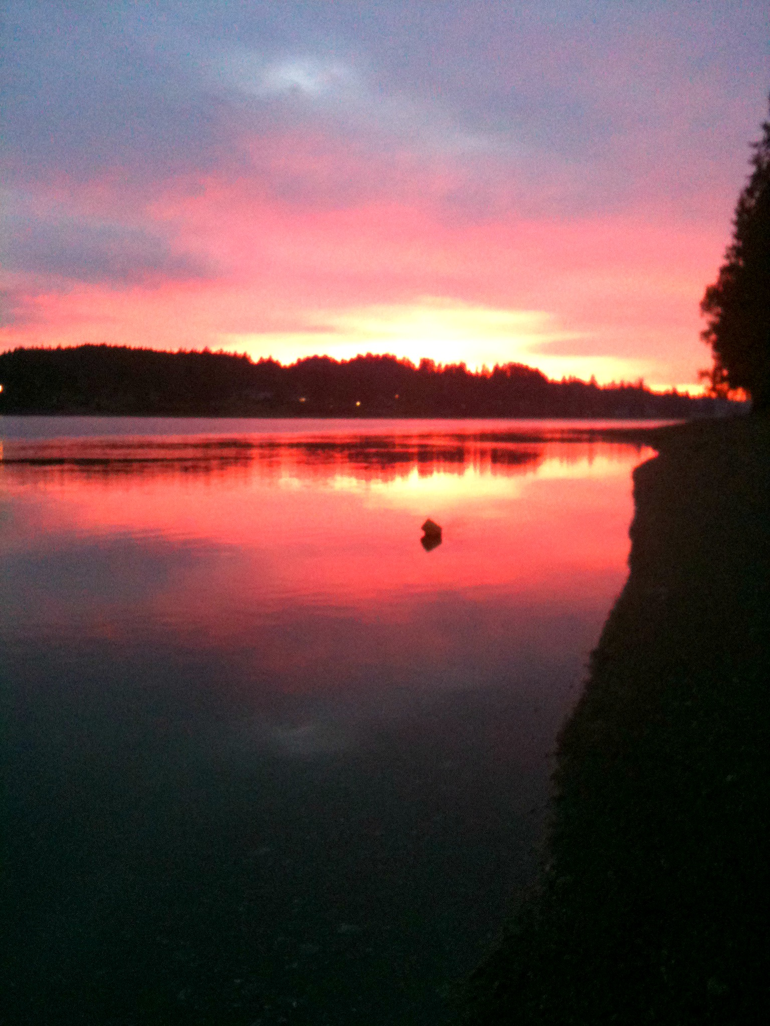 Sunset over Hammersley Inlet.