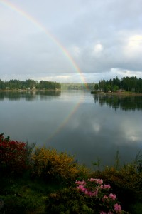 Rainbow Over Hammersley Inlet