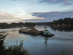Barge on Hammersley Inlet