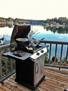 Grill on Deck Overlooking Hammersley Inlet