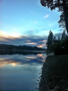 Dusk, West View Across Hammersley Inlet