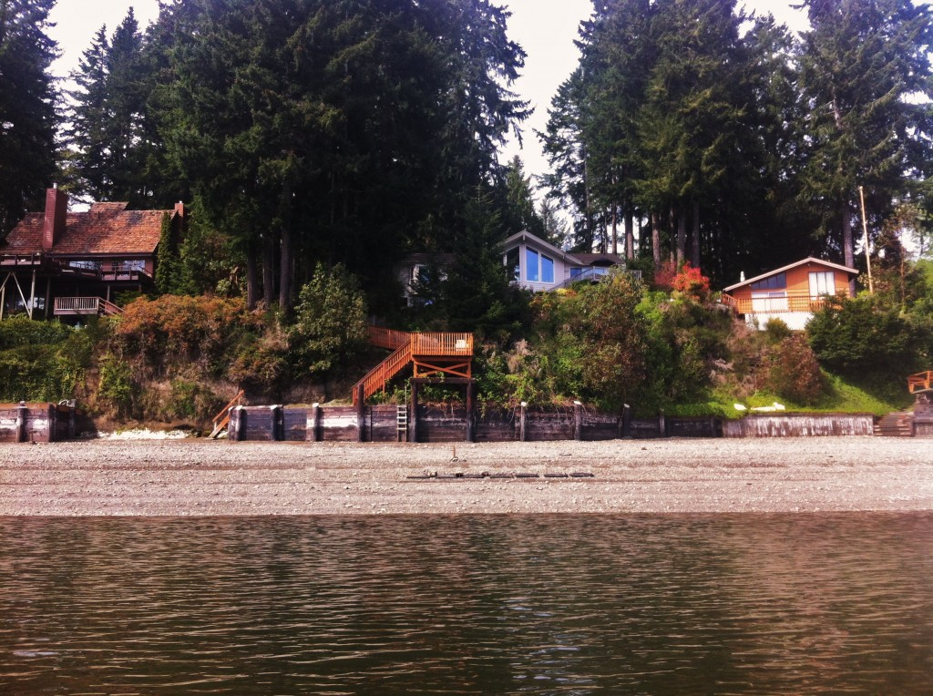 Kayak View of Agate Beach House